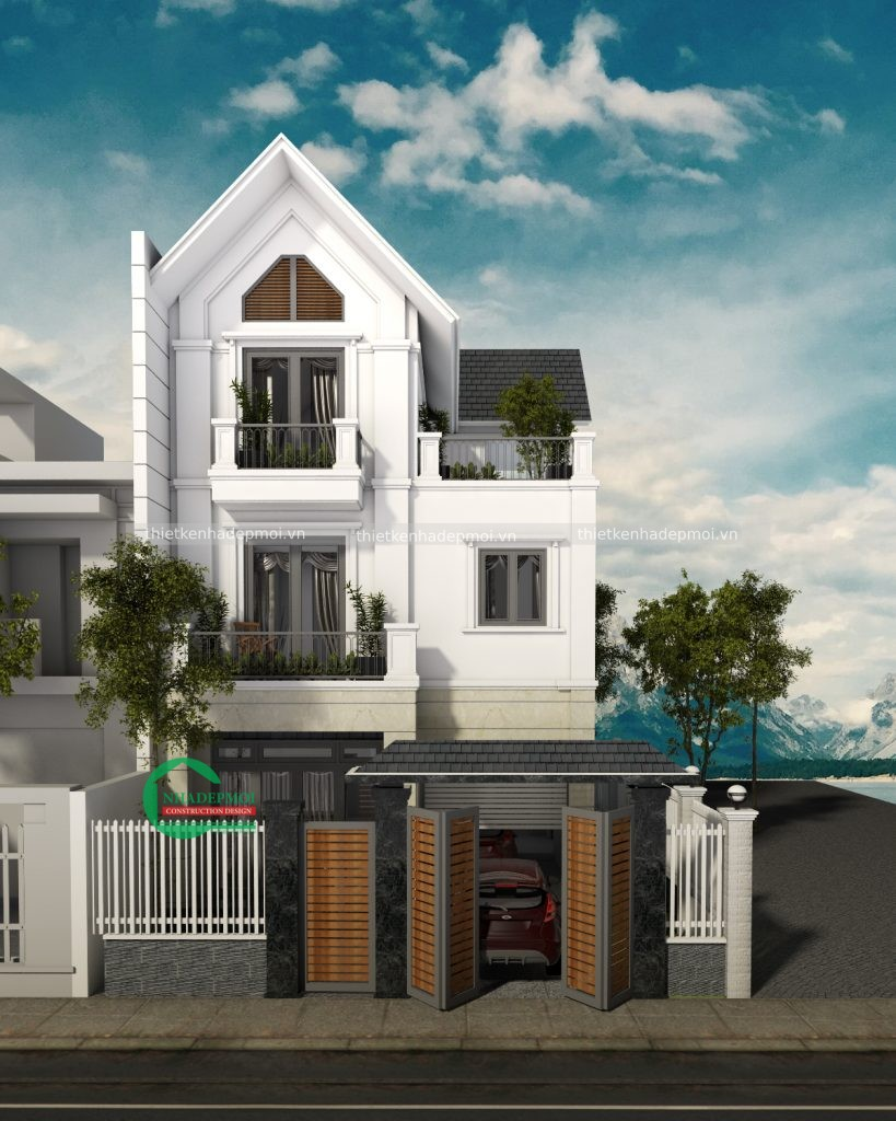 mẫu nhà mái thái 3 tầng