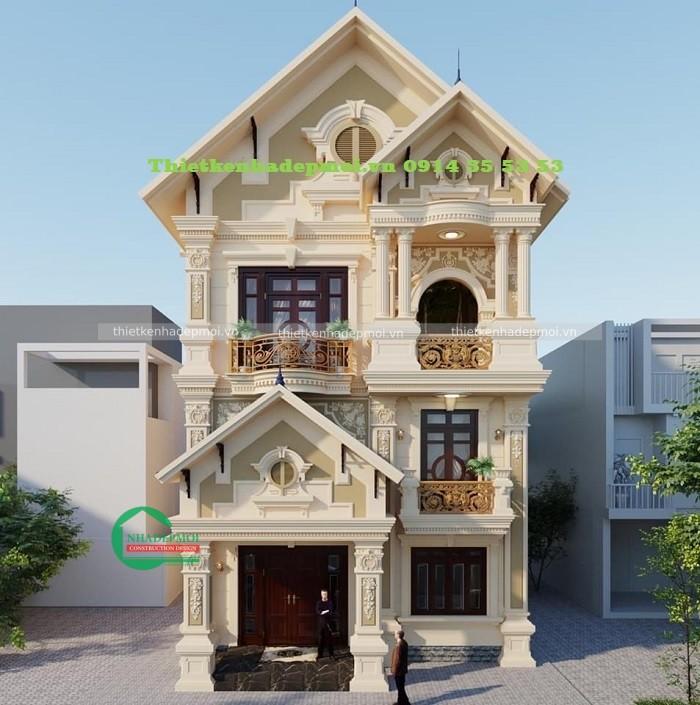 Thiết kế biệt thự 3 tầng tại bình phước