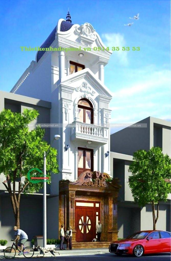 Mẫu nhà phố tân cổ điển