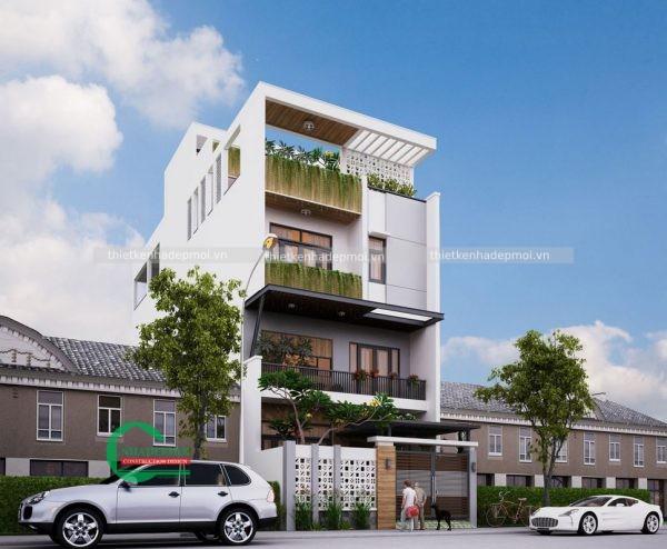 mẫu nhà phố đẹp 4 tầng
