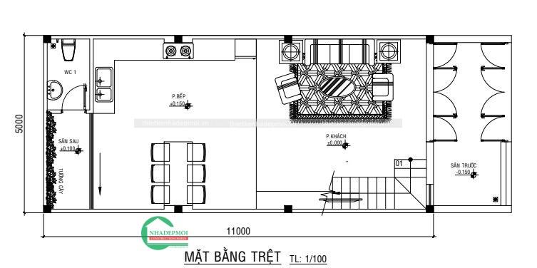 Thiết kế nhà 1 trệt lửng 2 lầu hiện đại sang trọng - XEM NGAY -1