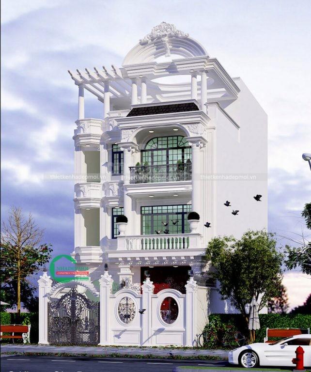 mẫu biệt thự tân cổ điển 3 tầng 1 tum
