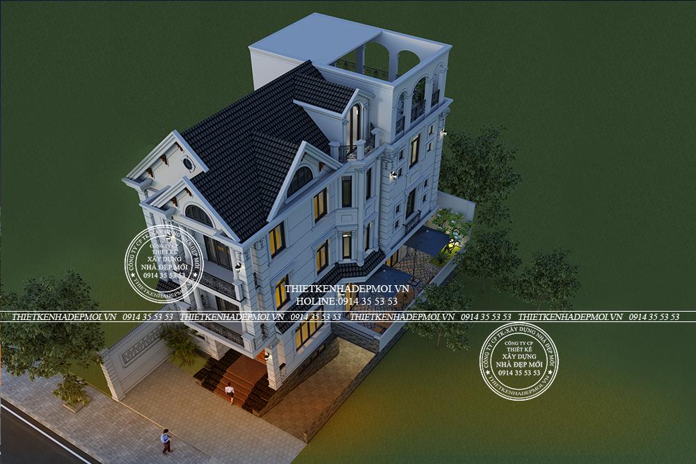 Biệt thự mái thái đẹp 3 tầng