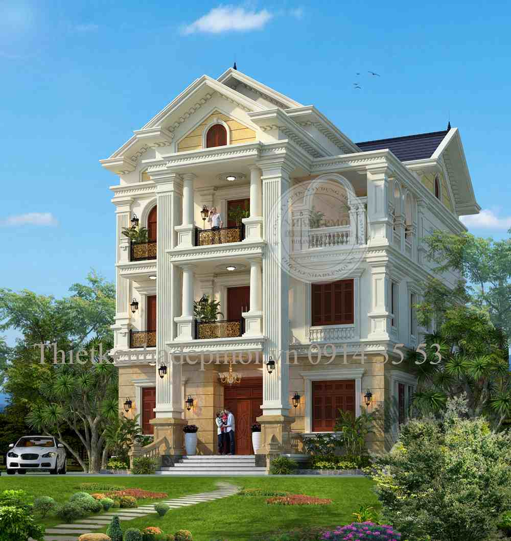 Thiết kế biệt thự đẹp 3 tầng