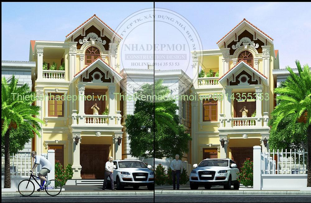 Thiết kế nhà mái thái 3 tầng