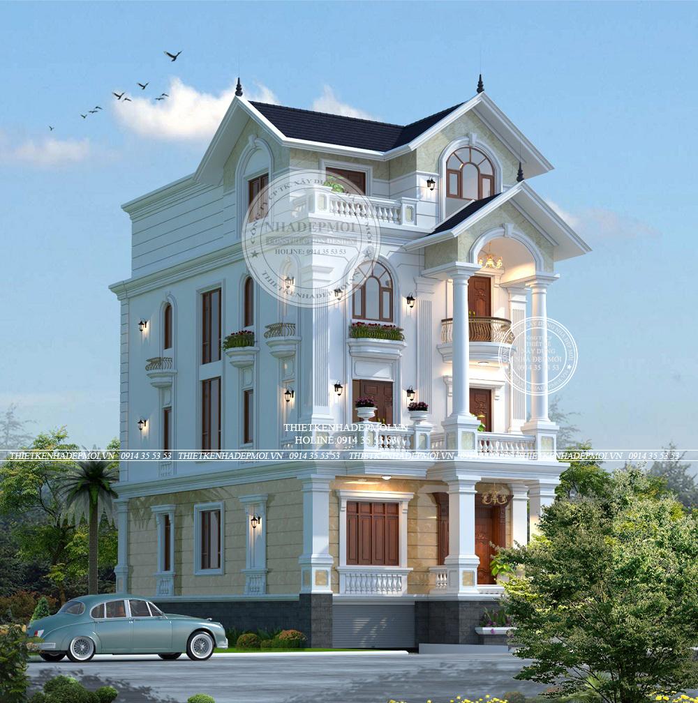 nhà mái thái 3 tầng 1