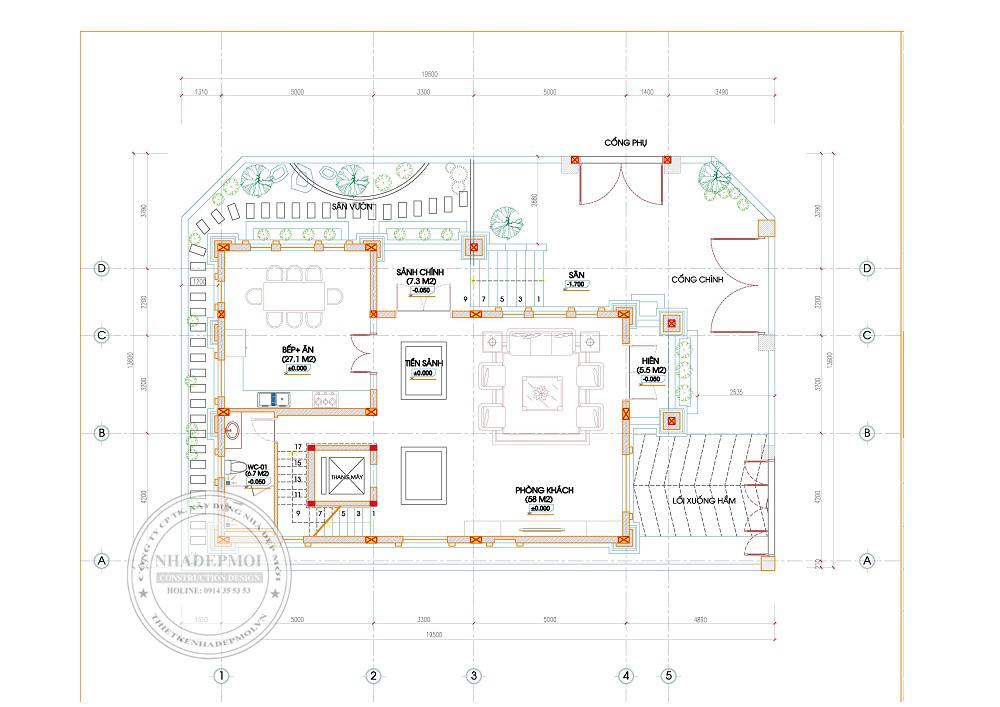 nhà mái thái 3 tầng 2