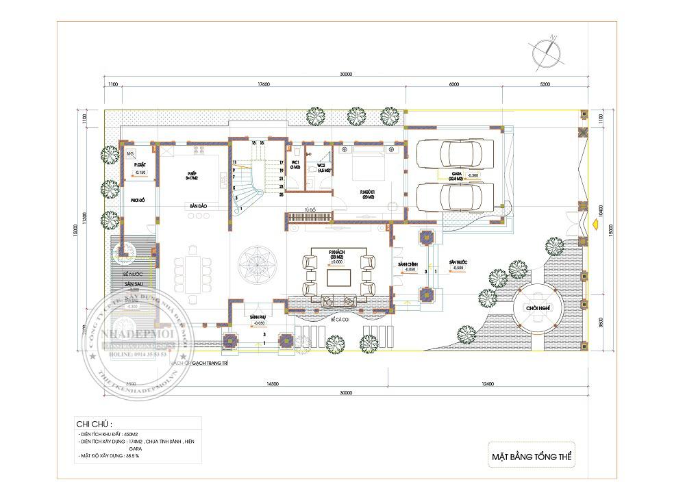 Mẫu biệt thự 2 tầng 3