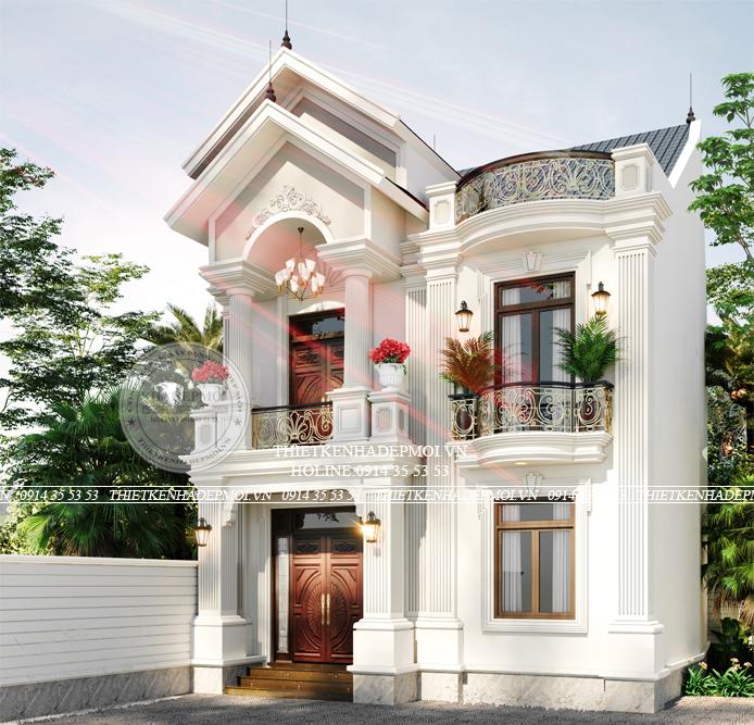 mẫu thiết kế biệt thự mini 2 tầng