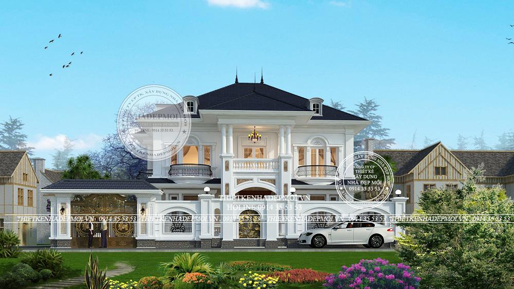 thiết kế biệt thự sân vườn 1