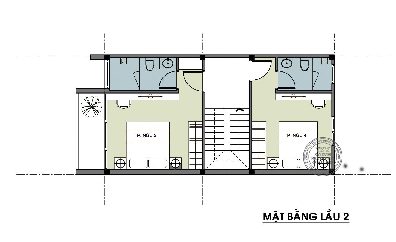 Mẫu nhà phố 1 trệt 2 lầu 1 sân thượng-4