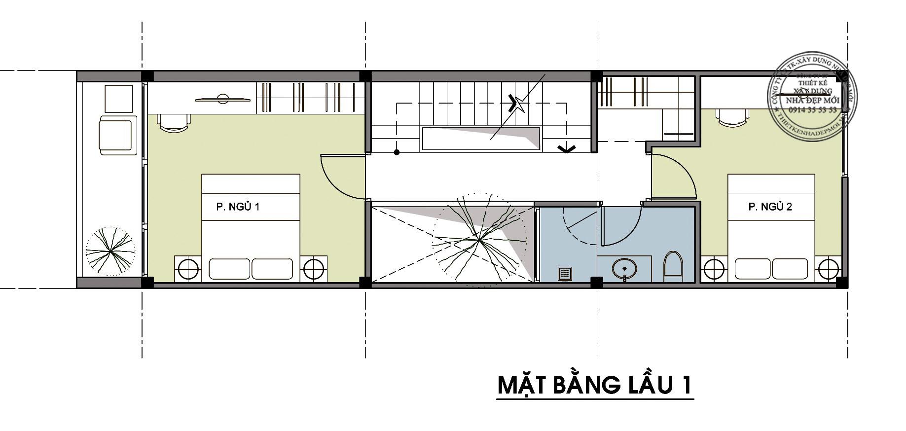 Thiết kế nhà đẹp 3 tầng-3