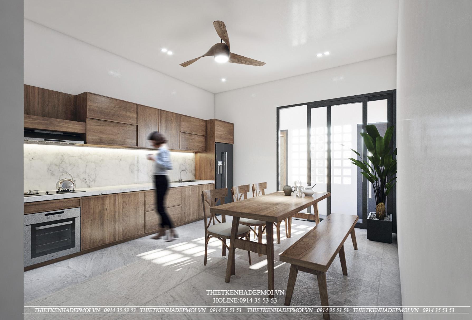 Thiết kế nhà đẹp 1 trệt 1 lầu sân thượng hiện đại - Sang trọng