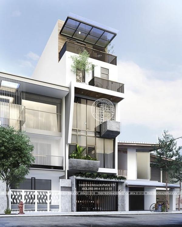 mẫu nhà hiện đại 5 tầng