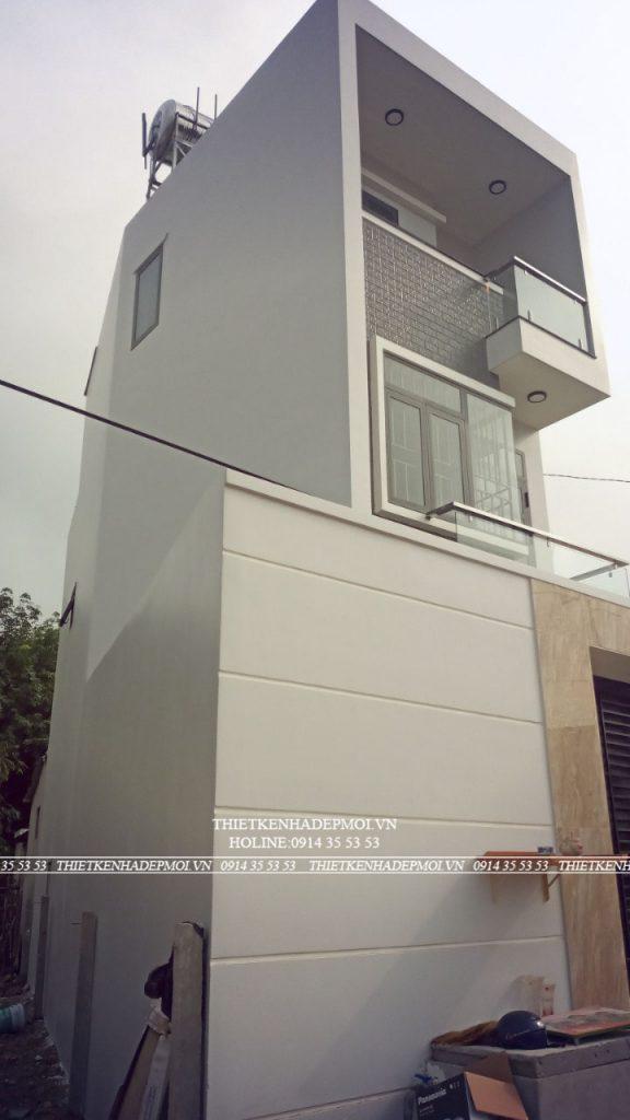 nhà 3 tầng diện tích nhỏ