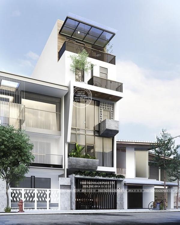 mẫu nhà hiện đại 5 tầng 1