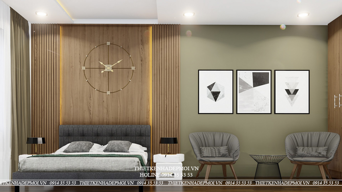 phòng ngủ mẫu nhà phố hiện đại