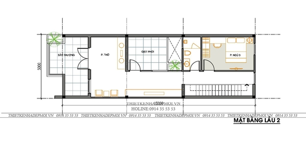 Mẫu thiết kế nhà 1 trệt 2 lầu 8
