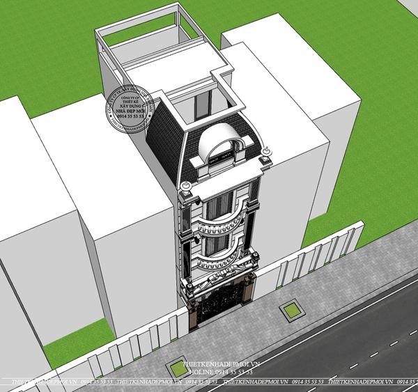 thiết kế nhà phố tân cổ điển 2