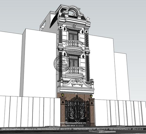 thiết kế nhà phố tân cổ điển 4