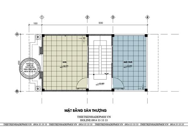 thiết kế nhà phố tân cổ điển 6