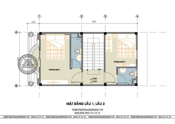 thiết kế nhà phố tân cổ điển 7