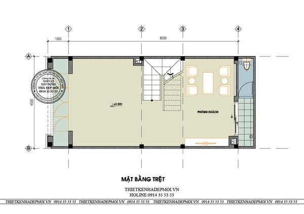 thiết kế nhà phố tân cổ điển 9