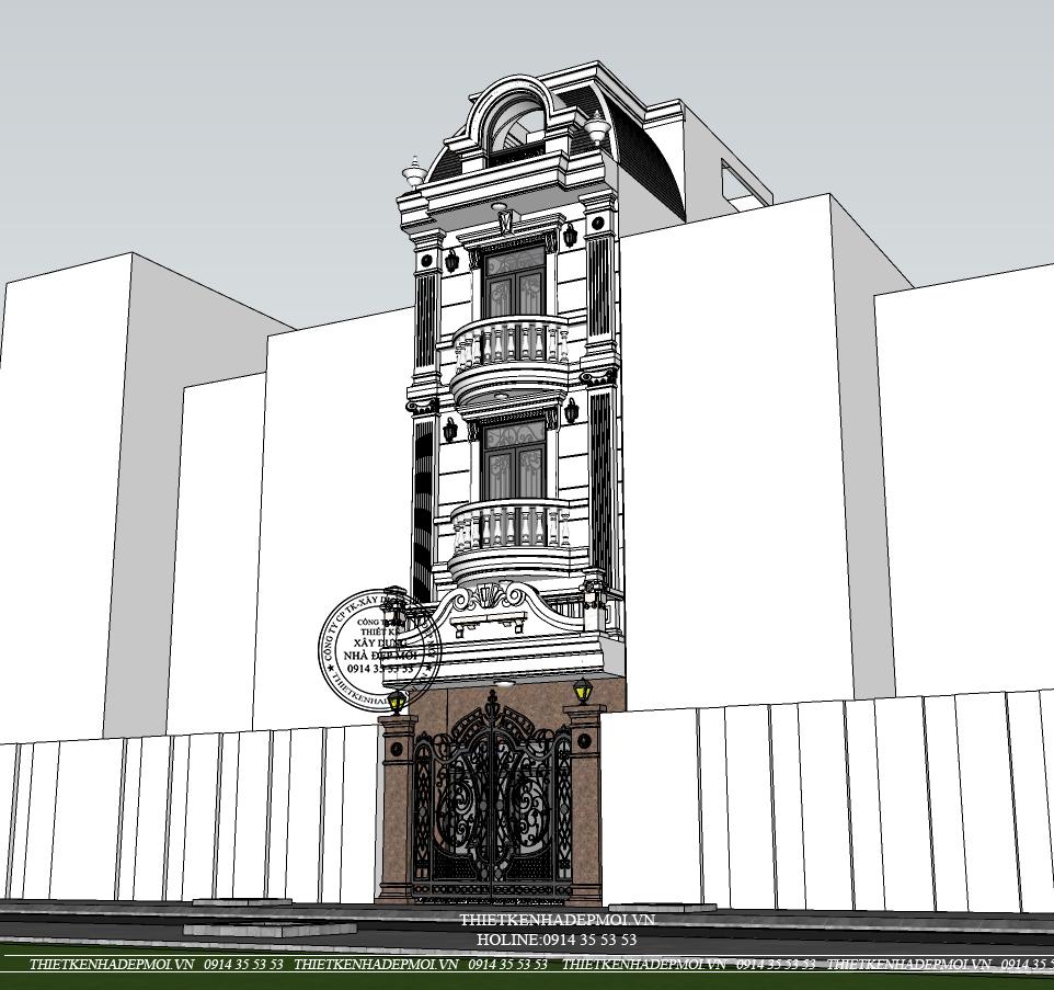 Mẫu thiết kế nhà phố tân cổ điển sang trọng - Hiện đại-2