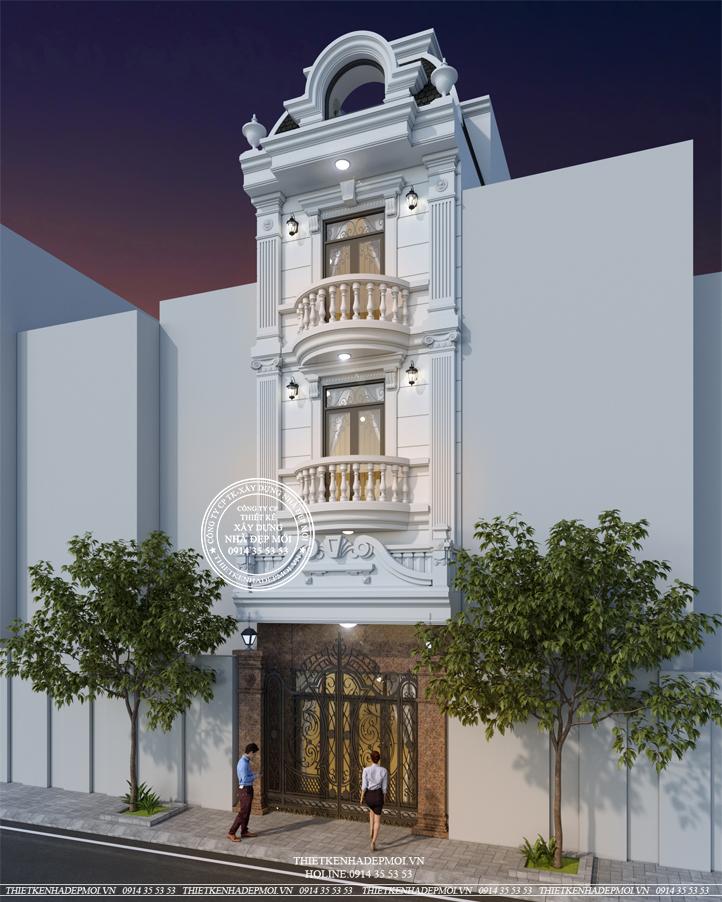Mẫu thiết kế nhà phố tân cổ điển sang trọng - Hiện đại-1
