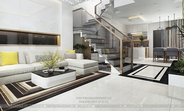thiết kế nhà 1 trệt 2 lầu sân thượng 1
