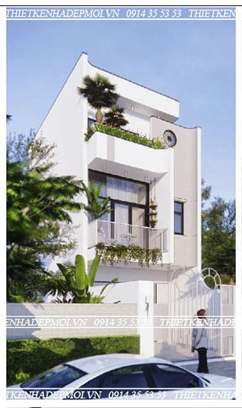 mẫu nhà phố đẹp hiện đại