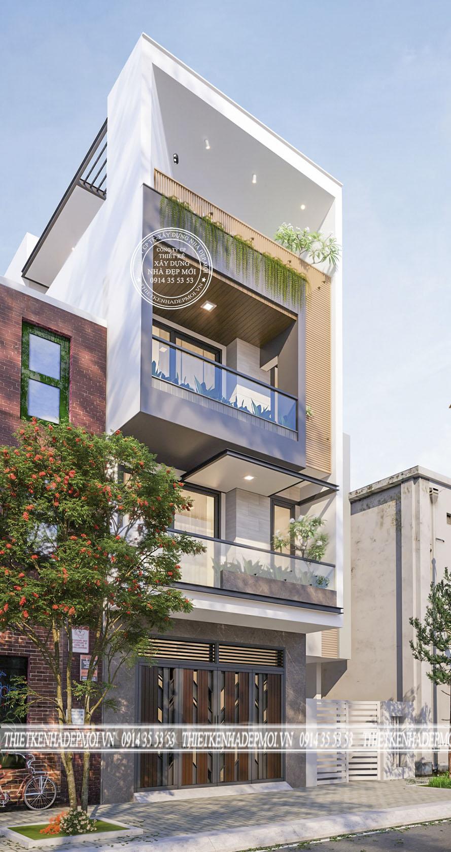 mẫu nhà phố hiện đại 3 tầng