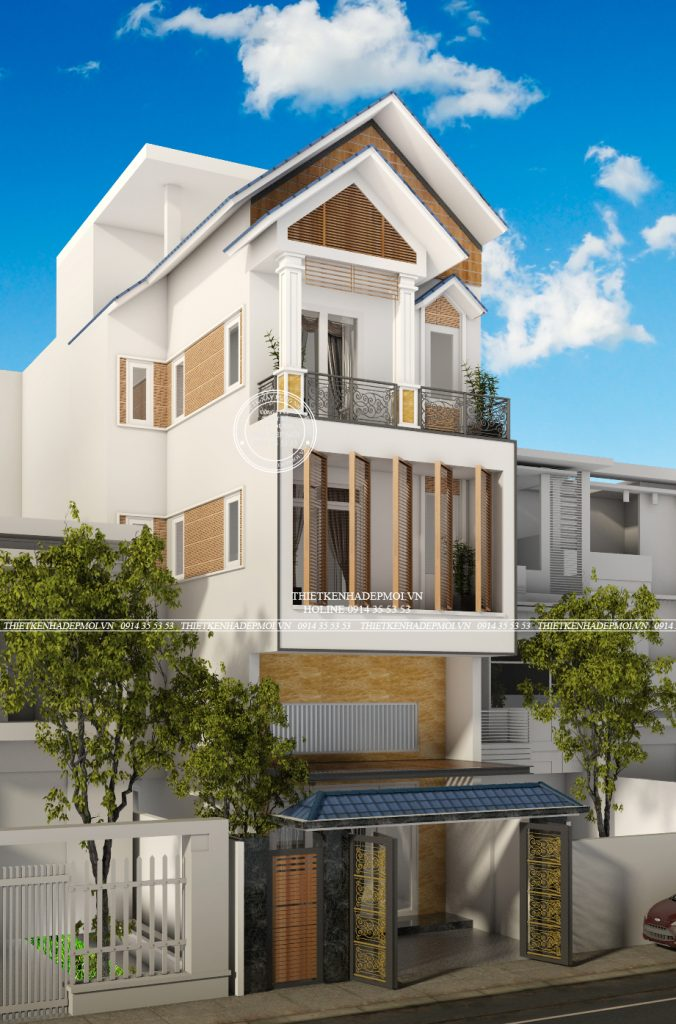 mẫu nhà phố mái Thái