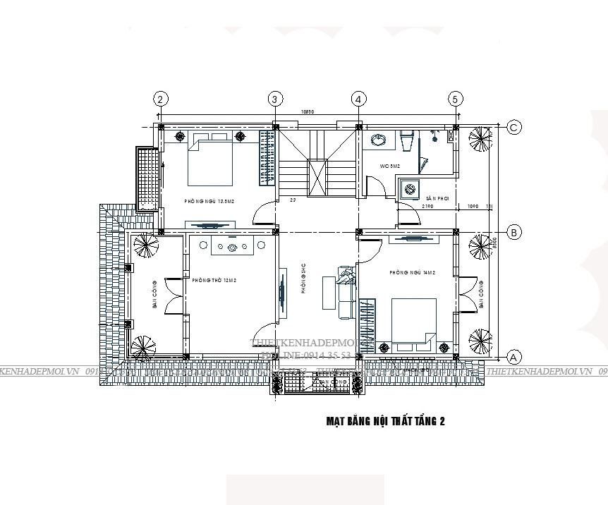 mẫu nhà đẹp 2 tầng