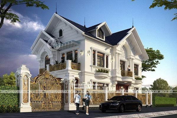 Thiết kế biệt thự mái thái 2 mặt tiền
