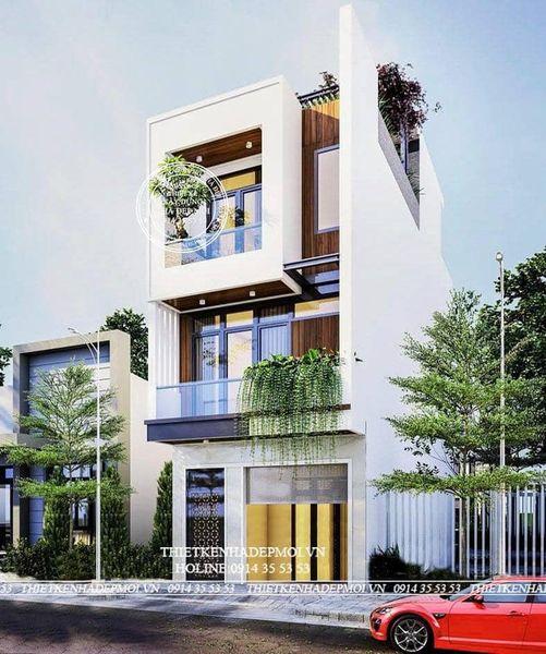 mẫu nhà phố đẹp 2021