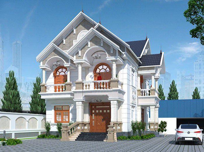 Thiết kế mẫu biệt thự 2 tầng mái thái lộng lẫy của Anh Trọng