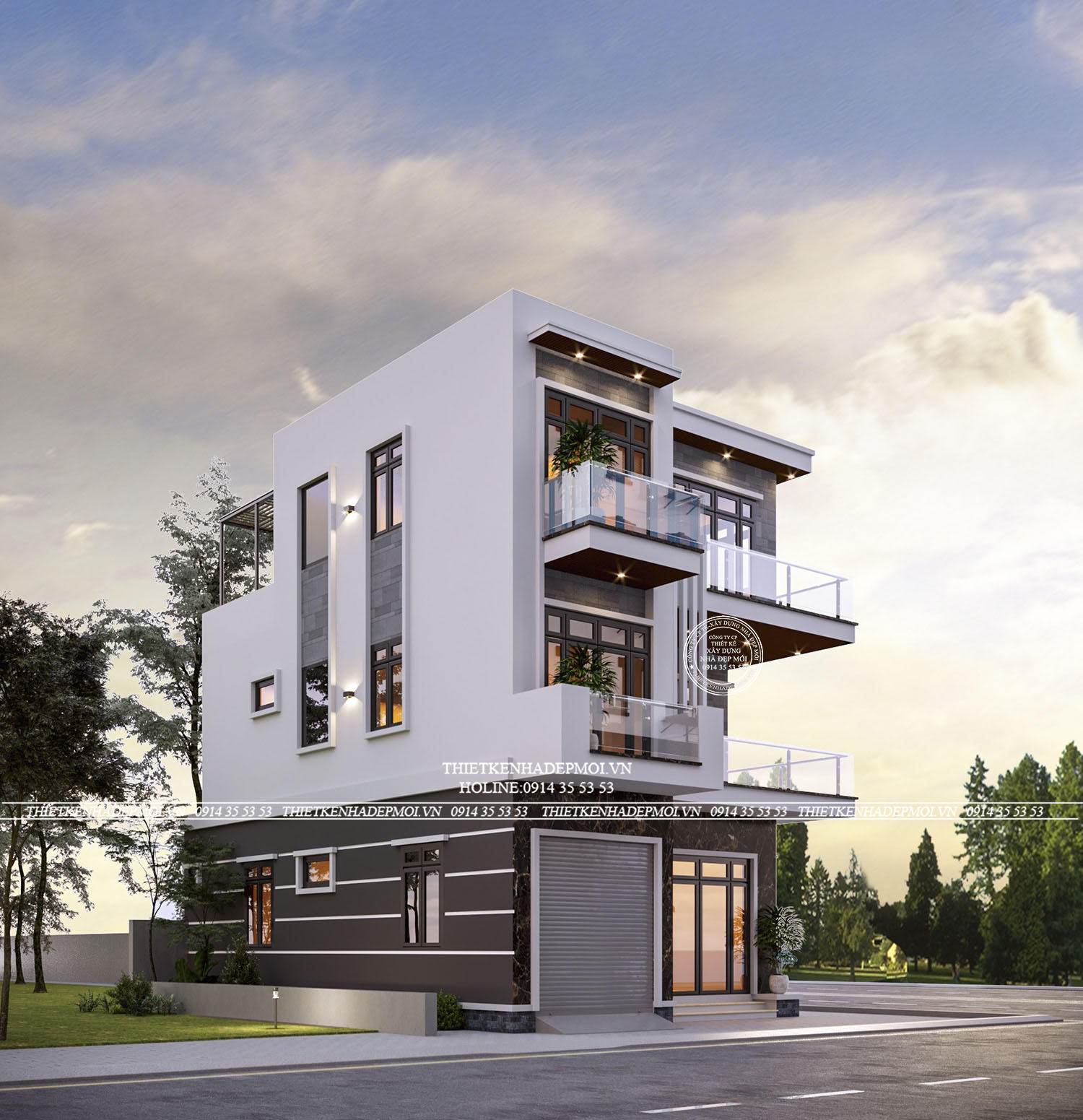 Thiết kế nhiều cửa sổ và cửa lớn tăng sự thông thoáng cho căn nhà