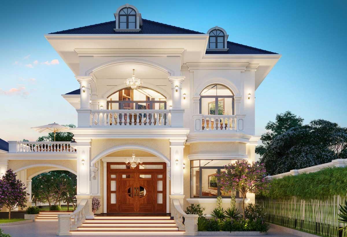 Mẫu biệt thự 2 tầng có thiết kế lộng lẫy của Chị Như
