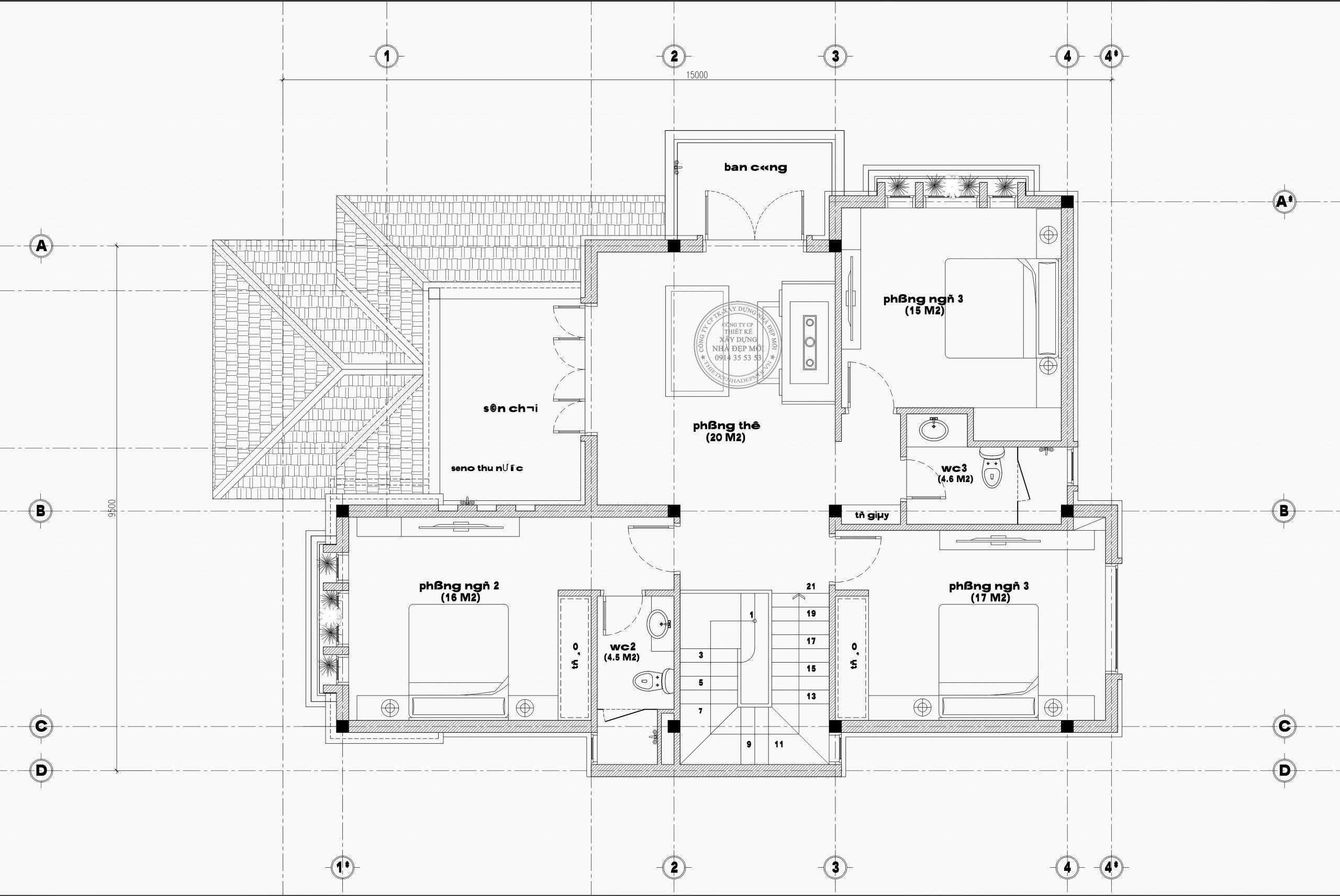 Bảng vẽ tầng 2