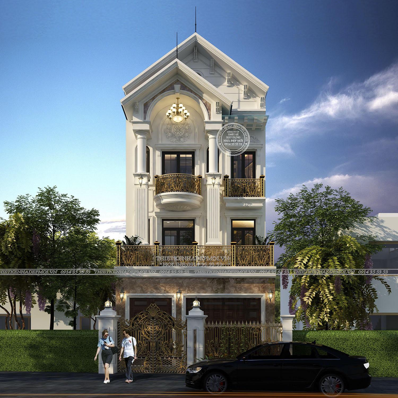 Mẫu nhà phố 3 tầng mái thái của Anh Phong