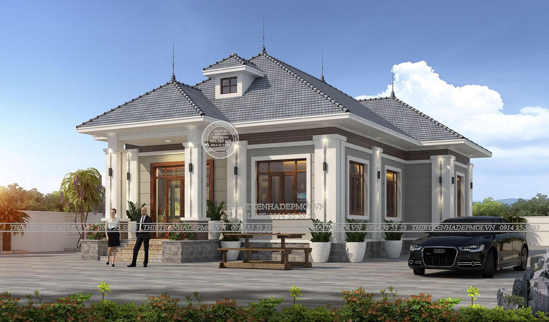 Cánh phải căn nhà cho thấy được sự phân cấp rõ rệt, thể hiện sự rộng rãi, to lớn