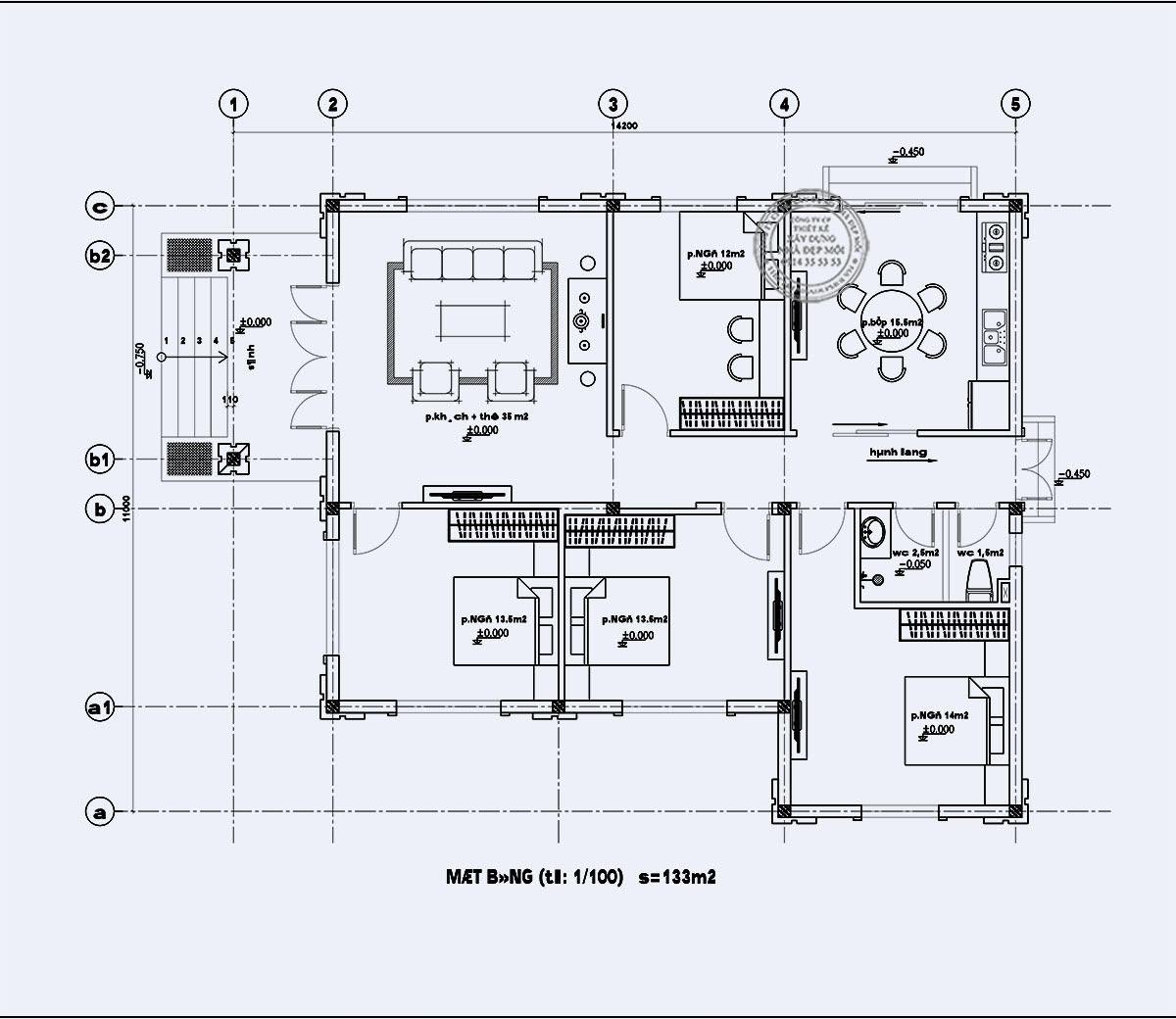 Mặt bằng phân chia các công năng tối ưu nhất cho căn nhà