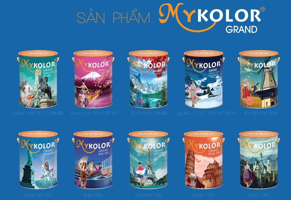 MyKolor có bảng màu đa dạng, đẹp, tươi sáng