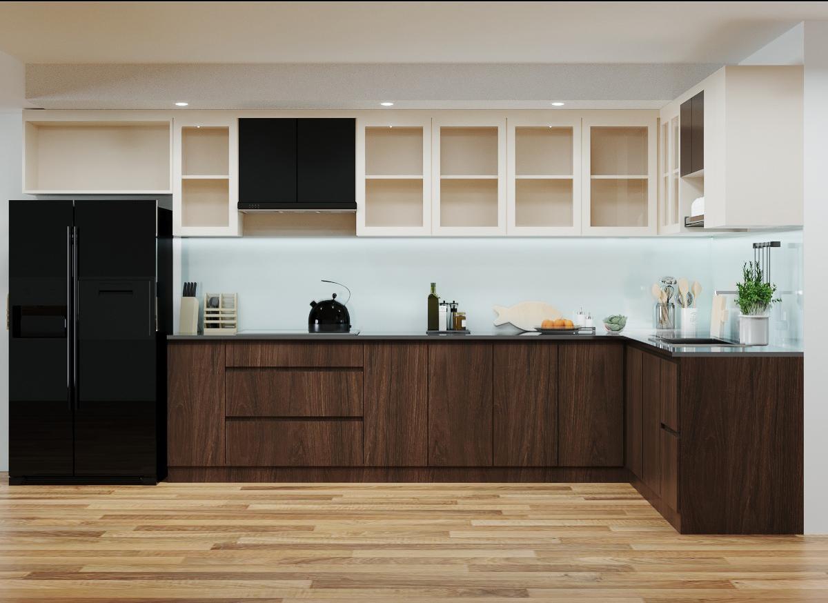 Tủ bếp gỗ công nghiệp với mẫu mã phong phú, màu sắc đa dạng