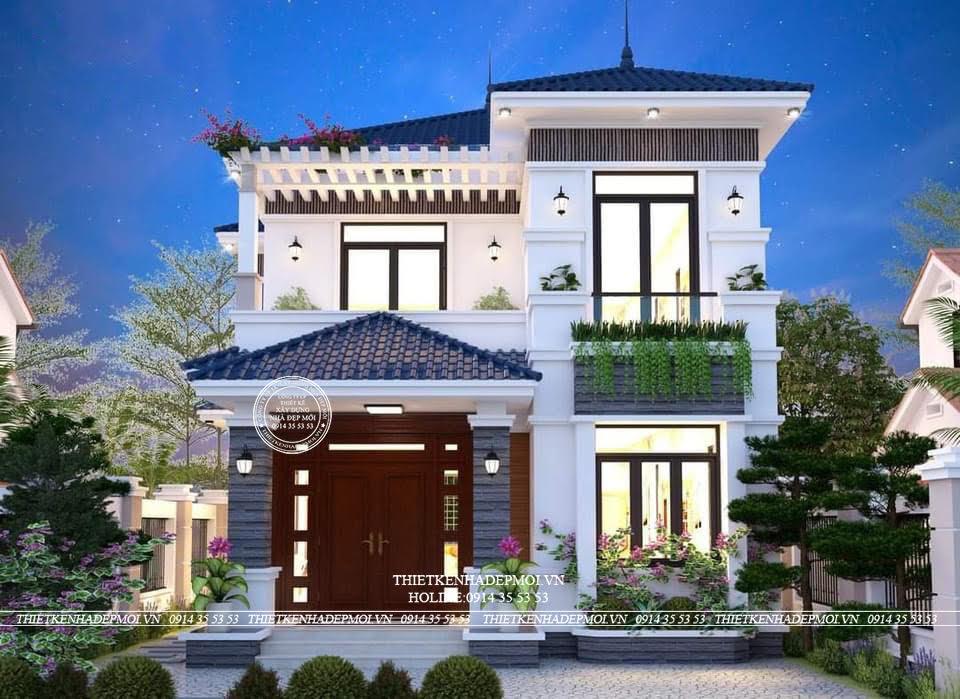 Thiết kế biệt thự mái Nhật đẳng cấp nhất hiện nay của Anh Vinh
