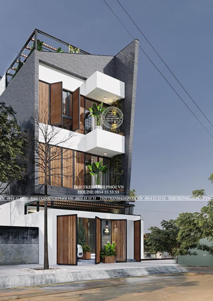 Mẫu nhà phố đẹp thiết kế 4 tầng chiều ngang 6 x15)m ở cần giờ