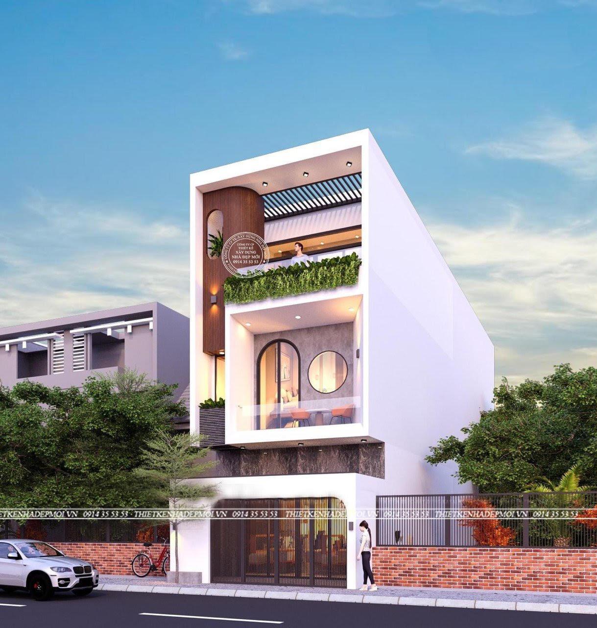 Mẫu nhà phố hiện đại 3 tầng chiều ngang (5-15)m