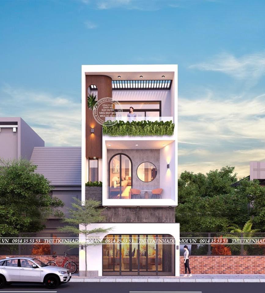 Thiết kế nhà 3 tầng (5-15)m