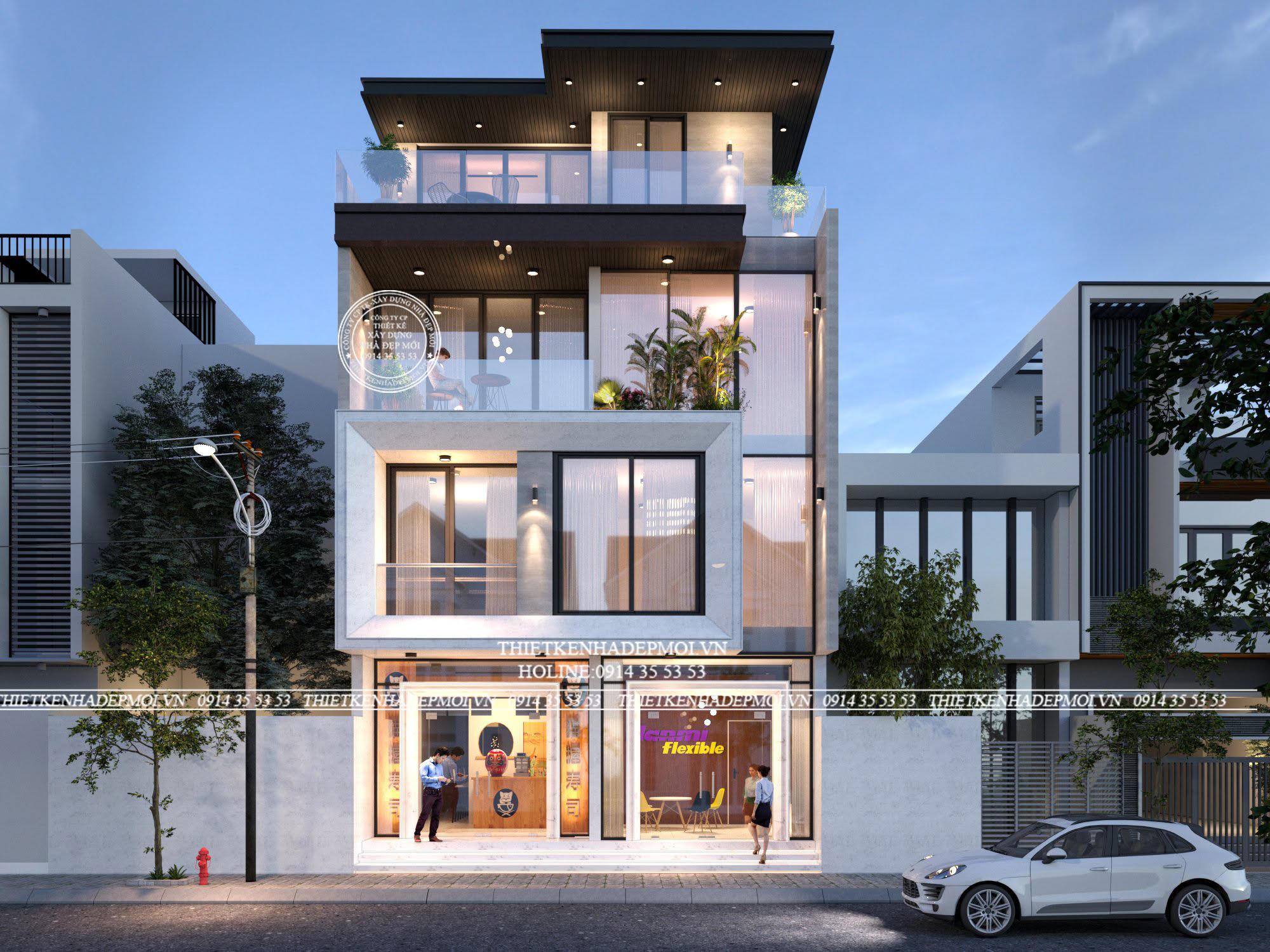 thiết kế biệt thự phố hiện đại